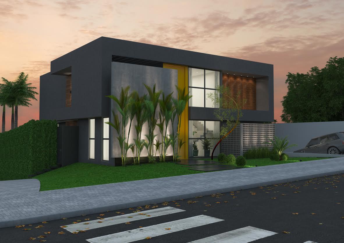 Cores mais aplicadas em casas modernas portal de for Cores modernas para fachadas de casas 2016